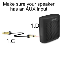 Speaker with AUX input
