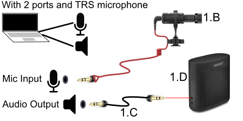With 2 ports and TRS microphone
